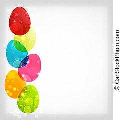 pascua, colorido, huevos, con, espacio, para, su, texto
