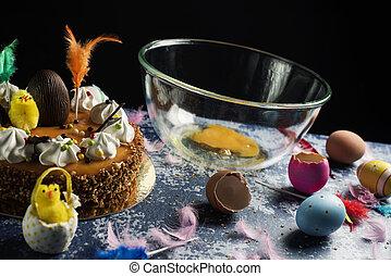 pascua, de, españa, comido, mona, pascua, pastel