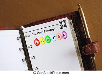 pascua domingo, diario, organizador