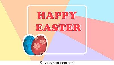 pascua feliz, plano de fondo, con, colorido, huevos, para, su, design.