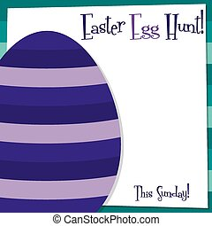 Pascua, formato, miedoso,  vector, huevo, tarjeta
