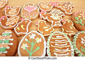 pascua, gingerbreads, colección