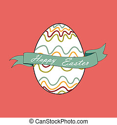 Pascua, huevo, feliz