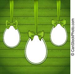 Pascua, huevos, Arcos, envoltura, verde