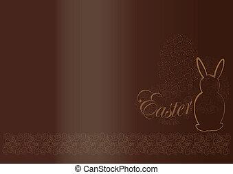 pascua, plano de fondo, chocolate