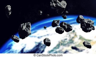 pasek, asteroidy, Przestrzeń