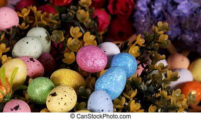 pasen, kleurrijke, traditionele , paschal, eitjes, viering