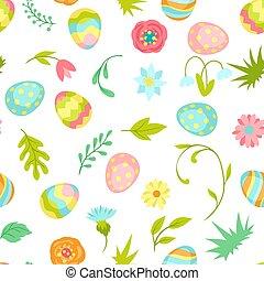 pasen, pattern., seamless, vrolijke