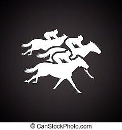 paseo de caballo, icono