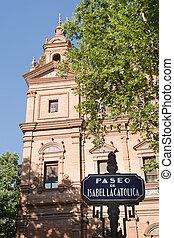 Paseo de Isabel la Catolica near Square of Spain