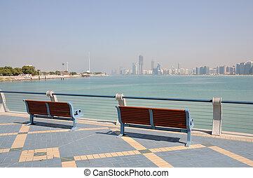 paseo, emiratos árabes unidos, abu dhabi