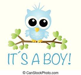 pasgeboren baby, jongen, aankondiging