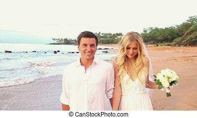 pasgehuwd, paar, tropische