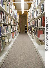 pasillos, biblioteca