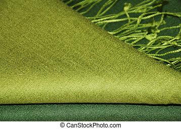 pasmina, verde, mantô