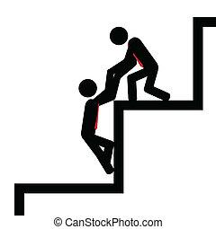 pasos, ayuda
