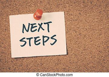 pasos, luego