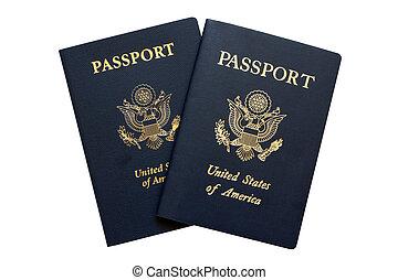 paspoorten, amerikaan
