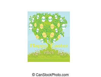 pasqua, albero, scheda
