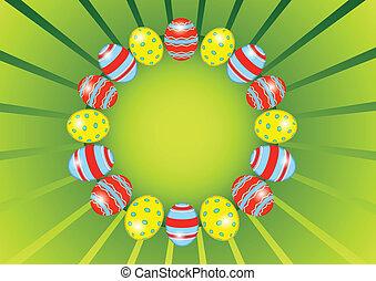 pasqua, cerchio, uovo