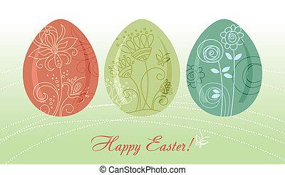 pasqua, fondo, uova