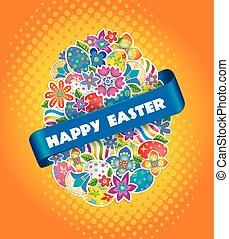 pasqua, simbolo, uovo, e, primavera, flower.3