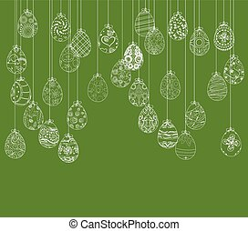 pasqua, uova, Ornamento, Scheda, appendere