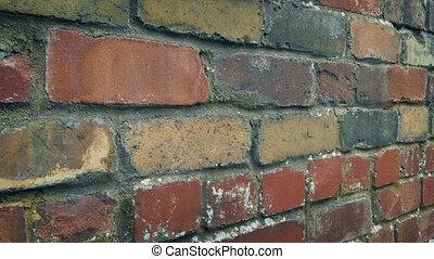 passé, brique, typique, en mouvement, mur
