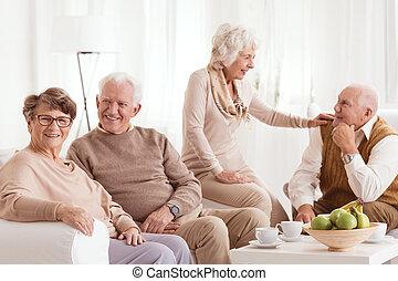 passé, sur, famille, évoquer souvenirs