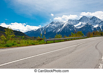 Pass in the Alps
