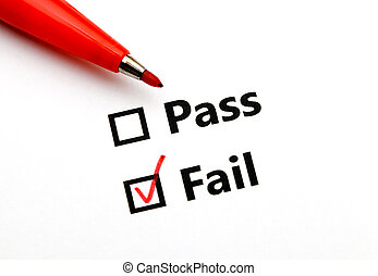 Pass or fail with red pen