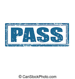Pass-stamp - Grunge rubber stamp with word Pass,vector...