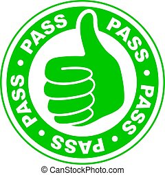 Pass thumbs up icon