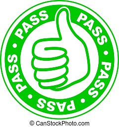 Pass thumbs up stamp