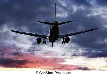 passa, avião, despesas gerais