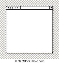 passado, aberta, aquilo, template., conteúdo, janela, seu, browser