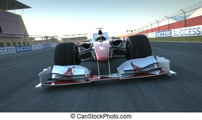 passado, f1, câmera, racecar, acelerando