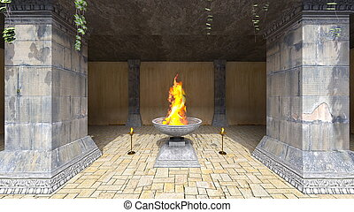 Passage - 3D CG rendering of the passage.