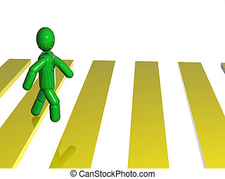 Passage - 3d person pacing the passage. 3d render.