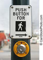 passage clouté, bouton