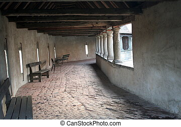 Passage in Riegersburg fortress, Austria