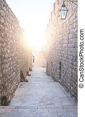 Passage in the Dubrovnik Old Town Walls