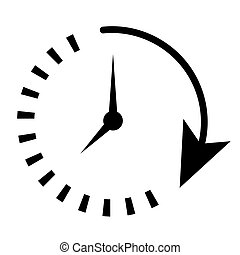 Passage of time. Timer logo. Watch icon illustration vector...