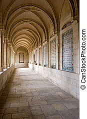Passage of Pater Noster church in Jerusalem