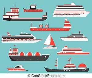 passageiro, óleo, iate, gás, set., navios, volume, ship., cruzeiro, portador, petroleiro, petroleiro