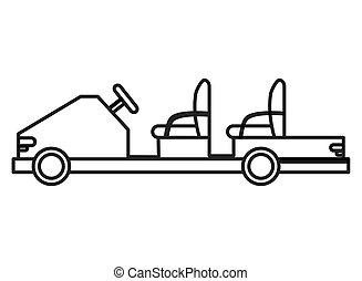 passageiro, aeroporto, carro elétrico, ícone
