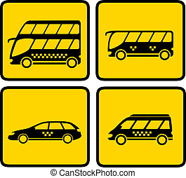 passageiro, amarela, transporte, ícone