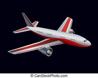 passageiro, avião, pretas