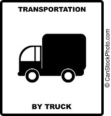 passageiro, box., transporte, illustration., carga, estradas ferro, trucks-, aeronave, isolado, despacho, vetorial, mar negro, silueta, branca, bandeira