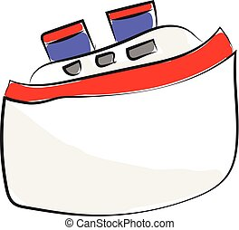 passageiro, cor, ilustração, vetorial, navio, ou